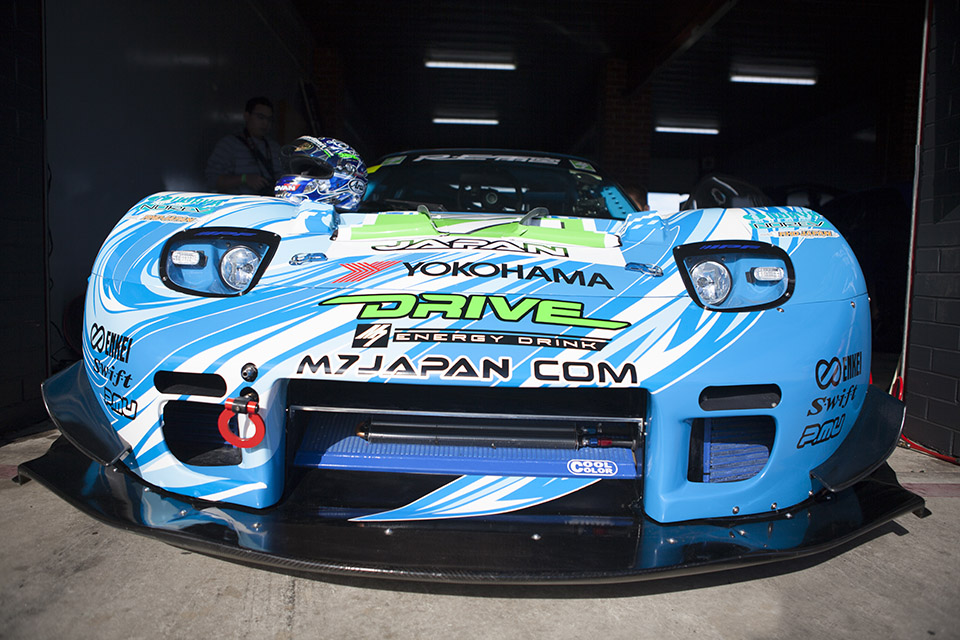 RE Amemiyama Mazda RX-7 - racing photographer in Melbourne